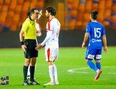 طرد طارق حامد واللاعب يرفض الخروج من الملعب