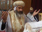 البابا تواضروس ينيب مطران بورسعيد لترأس قداس الذكرى الثامنة للبابا شنودة بوادى النطرون