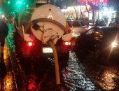 صور.. أحياء الإسكندرية تكثف أعمال تصريف الأمطار.. وجولات ميدانية للقيادات