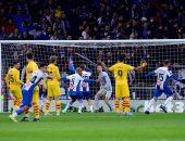 أهداف السبت.. رباعية السيتى وثلاثية مدريد وسقوط برشلونة
