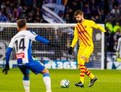 برشلونة يفرط في نقطتين أمام إسبانيول ويتصدر الدوري الاسباني