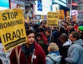 تظاهرات بعدة ولايات أمريكية للمطالبة بخروج أمريكا من الشرق الأوسط