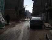 شكوى من انفجار ماسورة مياه خلف قصر ثقافة المحلة الكبرى بمحافظة الغربية