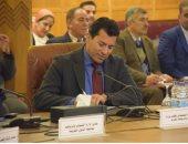 وزير الرياضة يشهد اجتماع باخ وحسن مصطفى ورؤساء الاتحادات الدولية عبر الفيديو كونفرانس