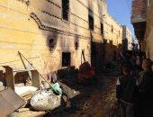 فيديو وصور.. إصابة 5 أشخاص فى حريق منزل بالأقصر