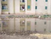 انتشار مياه الصرف والقمامة شكوى أهالى مساكن الإسكان الاجتماعى بمركز شبين القناطر