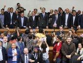 احتجاجات واشتباكات فى اجتماع البرلمان الفنزويلى برئاسة خوان جوايدو