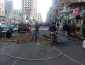 قارئ يشكو تكسير الأسفلت بالشارع بعد إتمام الرصف فى مركز شربين بكفر الشيخ