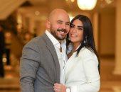 """رسالة رومانسية لـ""""محمود العسيلى"""" من زوجته في عيد الحب..صور"""