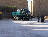 أول فيديو لأعمال نقل تماثيل الكباش الأربعة من الكرنك لتزيين ميدان التحرير