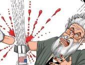 كاريكاتير صحيفة سعودية.. وجع إيرانى بعد مقتل قاسم سليمانى