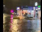أمطار غزيرة فى مناطق متفرقة بالأردن.. فيديو وصور
