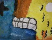 """""""لين """" تشارك صحافة المواطن بلوحات وبورتيرهات تبرز موهبتها الفنية"""