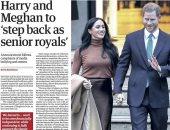 الأمير هارى وميجان ماركل يصدمان العالم بتنحيهما عن مهامها  فى العائلة الملكية.. دوقة سايكس تظهر بدون خاتم الزواج.. واستياء الملكة إليزابيث يتصدر عناوين الصحف.. ومعلقون يقارنون وضع الزوجين بأزمة إدوارد الثامن