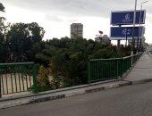 صور.. سقوط جزء من سور كوبرى أكتوبر بنزلة الزمالك