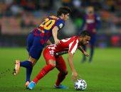 برشلونة ضد أتلتيكو مدريد.. 20 دقيقة سلبية من موقعة السوبر الإسباني