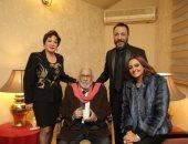 لبلبة ومحمود حميدة وعبد الرحمن أبو زهرة وبشرى فى حفل جائزة ساويرس الثقافية