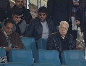 مرتضى منصور يظهر فى مقصورة السلام لدعم الزمالك أمام زيسكو