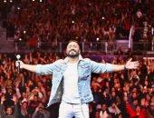 """تامر حسنى يشكر جمهور السعودية ويصف حفل جدة بـ""""أجمل حفلات العمر"""""""