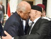فيديو وصور.. على عبد العال يستقبل رئيس النواب الليبى لدى وصوله مقر البرلمان المصرى