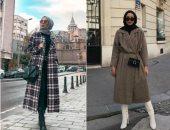 أزياء محجبات كاروهات.. 10 أفكار أنيقة للشتاء لشياكة بأقل مجهود.. صور