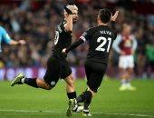 ملخص وأهداف مباراة استون فيلا ضد مانشستر سيتي فى الدوري الانجليزي
