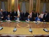 وزيرا الإنتاج الحربى والإسكان يشهدان توقيع اتفاق تأسيس شركة لإنتاج الأنابيب
