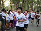 تايلانديون يشاركون بمهرجان للركض فى أكبر استعراض للمعارضة ضد الحكومة