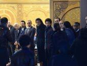 فيديو وصور.. تامر حسنى وحمادة هلال وشيكابالا في عزاء زوج شقيقة محمد منير