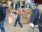 حملات لرفع إشغالات الكافيهات وصيانة أعمدة الإنارة بشرق مدينة نصر