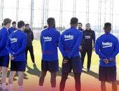 كيكى سيتين يقود تدريبات برشلونة للمرة الأولى.. فيديو وصور