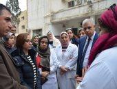صور.. نائب محافظ الإسكندرية تتفقد مركز شباب سموحة ومستشفى الرمل