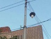 شكوى من وجود أسلاك بدون عوازل على أعمدة الإنارة فى قرية شفرف بمحافظة الغربية