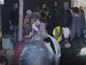 الأمن اللبنانى يعتقل متظاهرين غرب بيروت.. فيديو