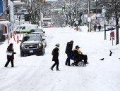"""الثلج يغطى مدينة فيكتوريا الكندية ودرجات الحرارة """"تحت الصفر"""""""