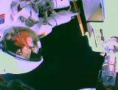 مشكلة فى خوذة رائدة ناسا خلال تواجدها بالفضاء الخارجى