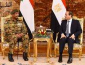 رئيس مجلس السيادة السودانى يهنئ الرئيس السيسى بذكرى انتصار أكتوبر