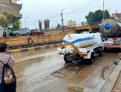 أمطار غزيرة تضرب مدن القليوبية والمحافظ يعلن حالة الطوارئ