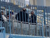عمرو الجناينى والعطار فى مباراة الكرة النسائية بين مصر والمغرب