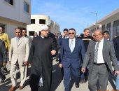 """وزير الأوقاف يستكمل جولته بمدينة الغردقة بتفقد الانشاءات مسجد """"آل صابر"""""""