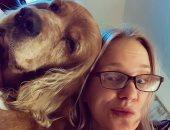 شيرين رضا تنعي كلبها بكلمات مؤثرة بسيلفى لهما عبر إنستجرام.. صورة