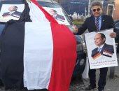 شاهد كيف استعدت الجالية المصرية بألمانيا لاستقبال الرئيس السيسي