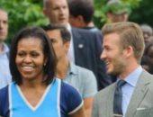 ديفيد بيكهام يهنئ ميشيل أوباما فى عيد ميلادها بصورة قديمة تجمعهما