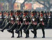 صور.. عرض عسكرى حاشد بمناسبة يوم القوات المسلحة بمشاركة ملك تايلاند