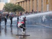 اشتباكات عنيفة فى محيط مجلس النواب اللبنانى بين المتظاهرين وقوى الأمن