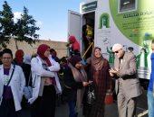 حملات لرفع الإشغالات بالبساتين وتنظيم قافلة طبية بعزبة النصر