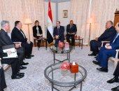 السيسي يبحث مع وزير الخارجية الأمريكى فى برلين القضية الليبية وسد النهضة