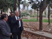 وزير الزراعة يجرى جولة مفاجئة لحديقة الأورمان والمتحف الزراعى.. صور