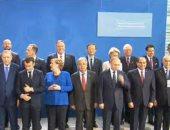 الرئيس السيسى وقادة الدول المشاركة فى مؤتمر برلين يلتقطون صورة جماعية
