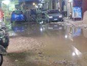 شكوى من غرق شارع محمد نور الدين فى البساتين بمياه الصرف الصحى